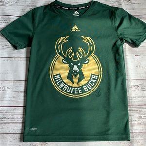 Milwaukee bucks Adidas T-shirt size small, 8